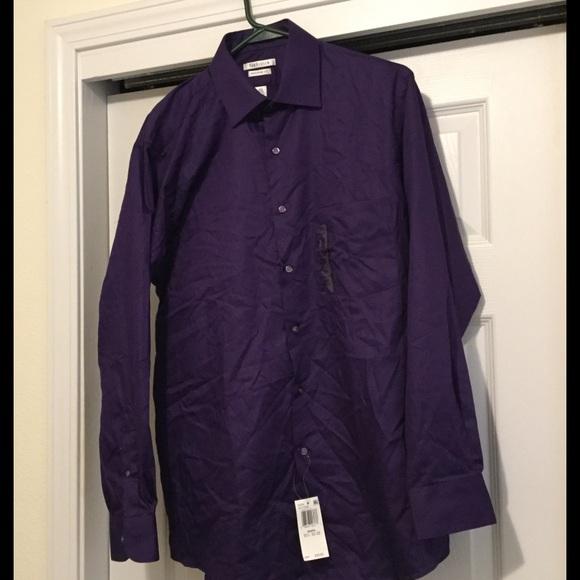 89 off van heusen other 5 mega sale men 39 s royal for Royal purple mens dress shirts