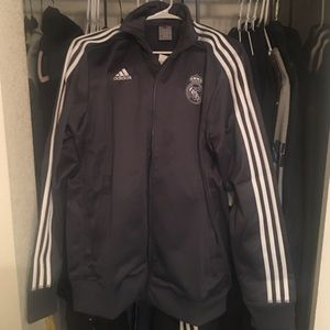 adidas Real Madrid Three-Stripe Soccer Jacket 2016