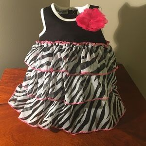 Other - Frilly zebra print one piece infant romper 6 mo