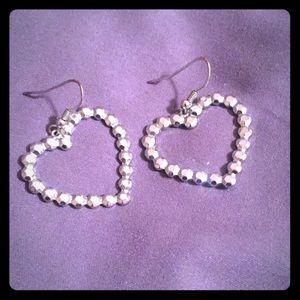 Jewelry - Silver heart earrings
