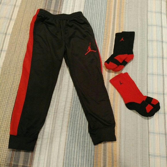 43ef74df2e35b4 Jordan Other - Little boy Air Jordan track pants   socks 5 6 ...