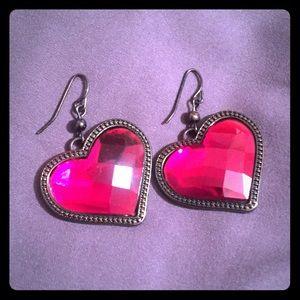 Jewelry - Ruby heart earrings
