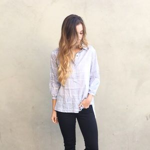 Tops - | new | blue plaid shirt