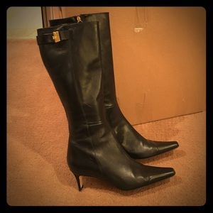 Kate Spade leather boots cybermonday