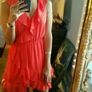 🌟host pick🌟Anthropologie red dress polka