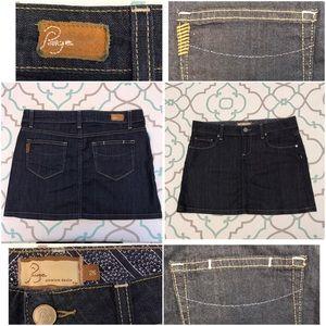 Paige Jeans Dresses & Skirts - OBO💙💘💙Paige Mini Jean Skirt! 26 Dark Cute EUC!!