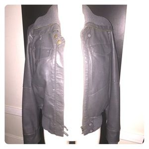 Collection B Jackets & Blazers - Gray bomber jacket