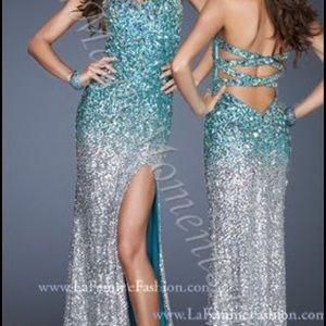 Rhinestone Prom Dress La Femme NWT sequins