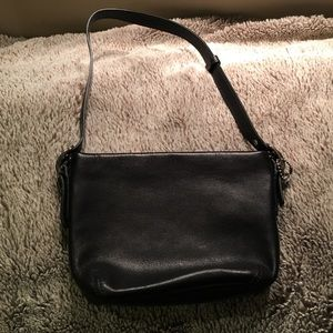 Sale EUC✨Coach black leather mini bag