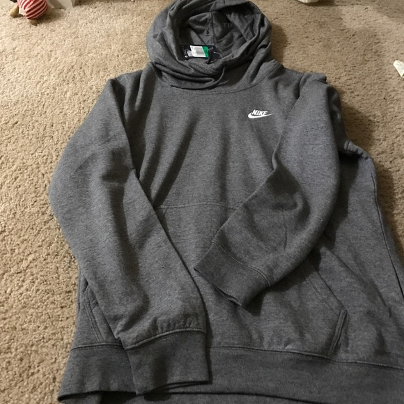 save up to 80% newest better Grey Nike cowl neck hoodie