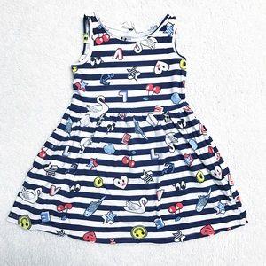 3T H&M cherry striped dress.