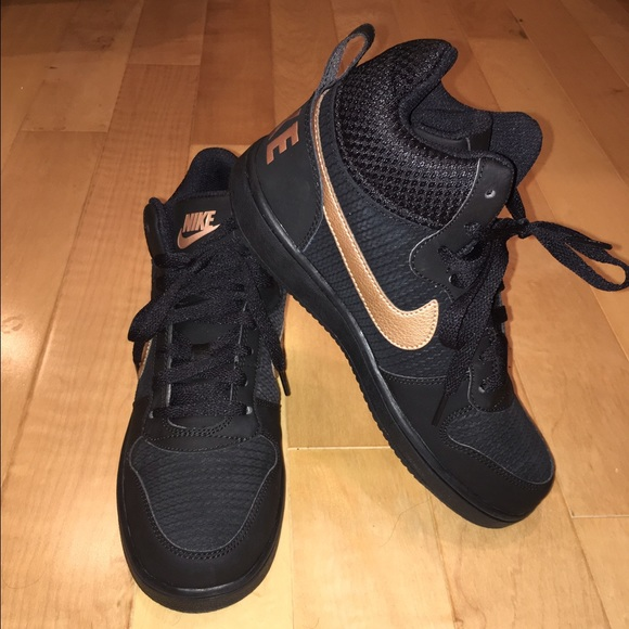 7ae36461452 New NIKE black n rose gold high/mid top sneakers. M_581a9870291a355714007ffd