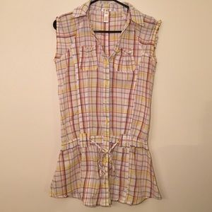 Ambiance Apparel Short Sleeve plaid Button Up