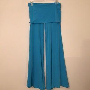 Turquoise Bellbottom Spandex Pants