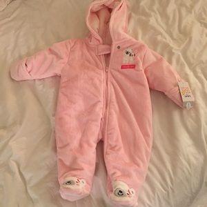 Carters Pink Fleece Bunting Suit. Brand New.
