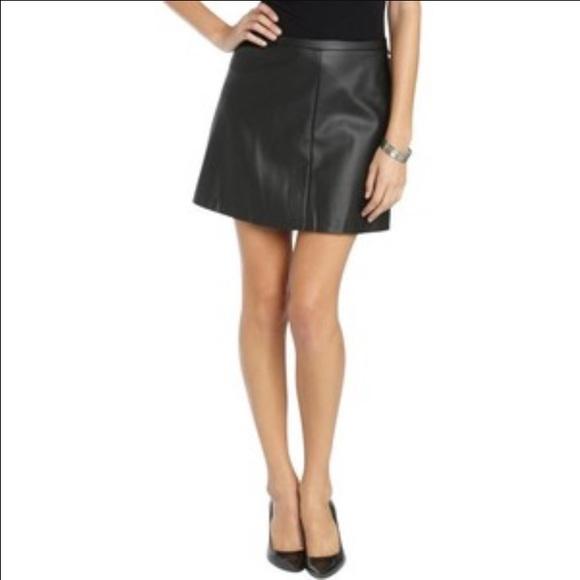 49 bcbgmaxazria dresses skirts leather bcbg skirt