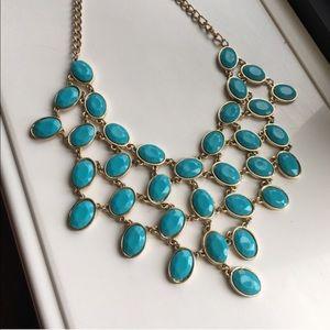 Festive aqua blue necklace!