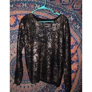 Sparkle and fade black sweater from urban