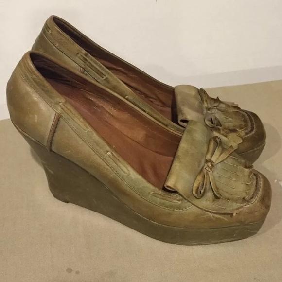 37c08d7999d Jeffrey Campbell Havana Rust Green Heels Sz.10