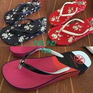 Tory Burch Shoes - Tory Burch 💯Authentic wedge flip flops sandals