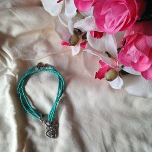 ⚓️Turquoise & Silver Anchor Bracelet