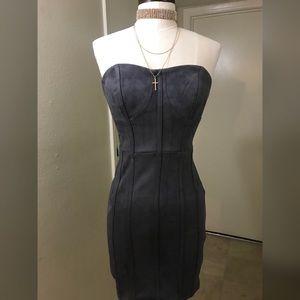 anawat Dresses - HP Hot Pursuit Suede Bodycon Dress