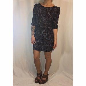 Paraella Navy & Rust Printed Shift Dress
