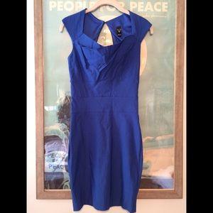 WINDSOR Dresses & Skirts - Windsor Dress • Royal Blue Midi Back Cutout