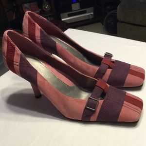 Ann Marino Shoes - Great suede shoes in pink, purple, & plum!