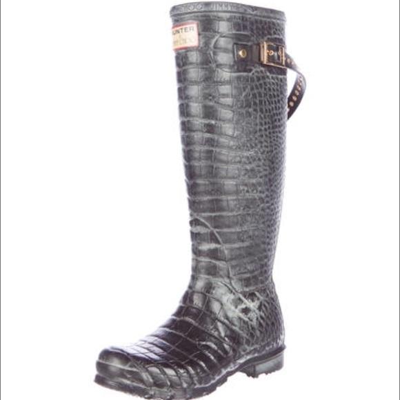 b0f238a9817 Jimmy Choo Shoes - Jimmy Choo x Hunter Embossed Rainboots 6-7