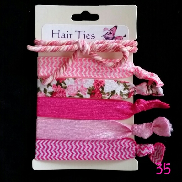 Boutique 3 16 Hair Ties Pink Makes Everything Pretty