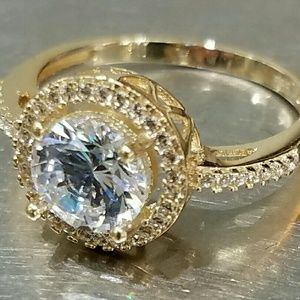 Jewelry - 14k yellow gold Engagement ring with 1.5ct stone