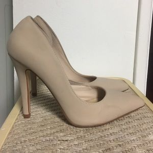 Pointed Nude Pumps