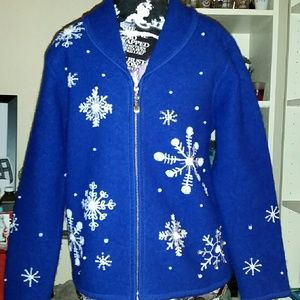 A Beautiful Bright Blue Holiday Jacket