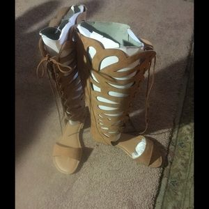 Torrid Scalloped Gladiator Boots size 9