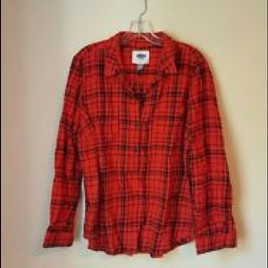 65 off old navy tops plaid red white and blue old navy for Red white and blue plaid shirt