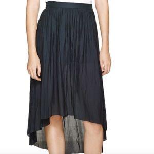 Aritzia Talula Black Chouette High-Low Midi Skirt