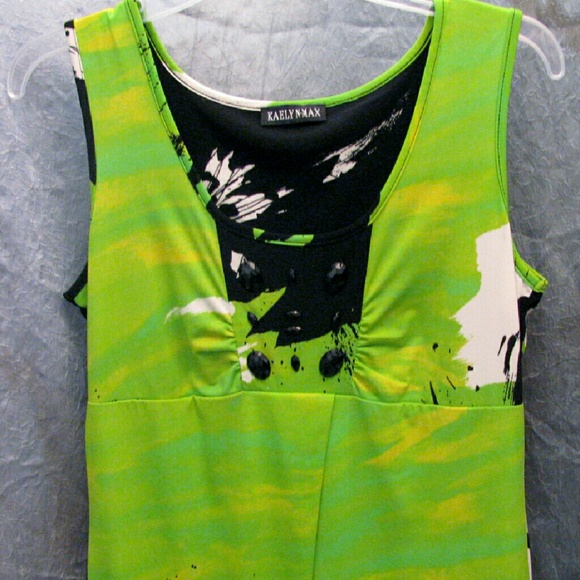 Kaelyn Max Dresses - (3/$23) Sleeveless dress, scoop neckline, Greenery