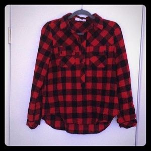 Tops - Red and black Plaid Shirt🔥