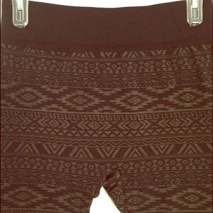 fleece lined leggings OS army green/black batik
