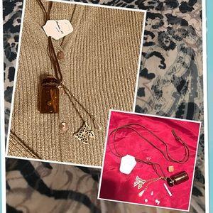 Necklace Bottle with Butterfly Necklace NWT