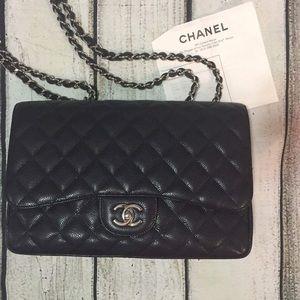 100% authentic Chanel jumbo flap