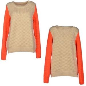 Numph Sweaters - Two-Tone Sweater