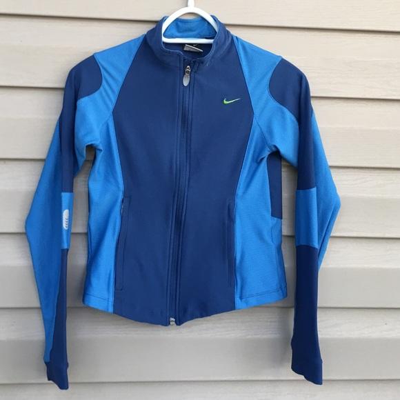 0ae87c9b2 Nike Jackets & Coats | Girls Zip Front Blue Jacket | Poshmark