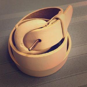 Accessories - Genuine Leather White Belt Small 216900