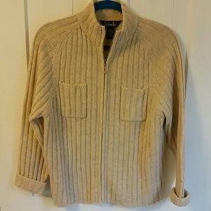 Rafaelle zipped wool sweater