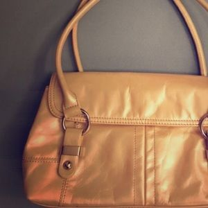 LAURA LANSDALE Iridescent Leather Baguette Purse
