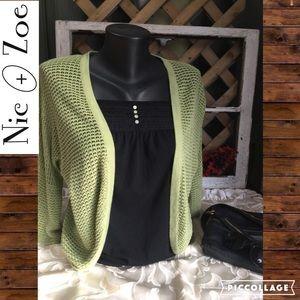 NIC + ZOE Sweaters - 📢 REDUCED Nic + Zoe Knit Shrug, Size M