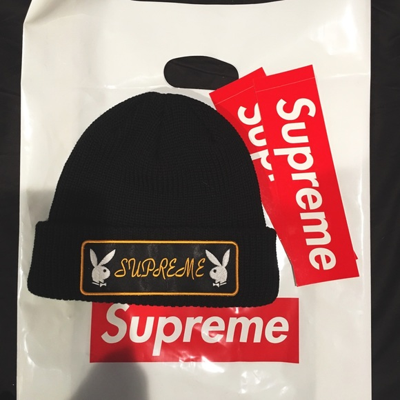 252d6a149 Supreme Accessories | Nwt Playboy Patch Beanieblacksold Out | Poshmark
