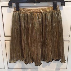 Elastic waist gold skirt